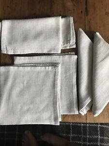 vintage linen table napkins X 6