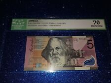 $5 dollars note commemorative 2001 FIRST PREFIX 'AA01' GRADED 'PERFECT UNC 70''