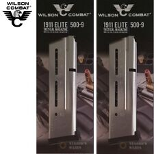 TWO Wilson Combat 1911 ETM Elite Tactical 9mm 10 Round Magazines 500-9 FAST SHIP