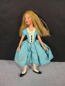 Nancy Wiley Alice In Wonderland Doll Cast Resin Hand Painted Burlap Hair 109/200