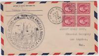 LETTRE AERIENNE USA  AIR MAIL 1930 FIRST FLIGHT NEWARK AIRPORT LOSANGELES CAM34