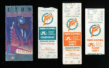 MIAMI DOLPHINS PLAYOFF TICKET LOT 1982-83 FULL TICKET SUPER BOWL AFC CHAMP LOT