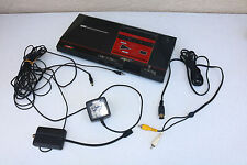 Sega Master System Black Console Rare Power Base w POWER + VIDEO AS IS untested