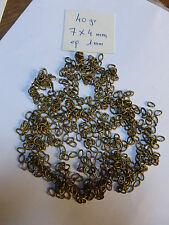 lot  de 40 grs d'anneaux en laiton pour creation de bijoux collier bracelet