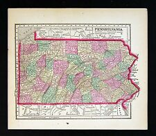 1857 Morse Map  Pennsylvania - Erie Philadelphia Pittsburgh Allentown Harrisburg