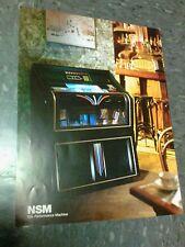 NSM HYPERBEAM 100 CD JUKEBOX flyer- good original