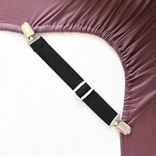 Regolabile lenzuolo titolari elementi di fissaggio cinghie Bretelle PINZA CLIP (Confezione da