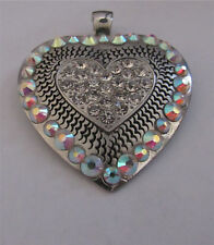 WESTERN COWGIRL MAGNETIC CRYSTAL HEART NECKLACE PENDANT