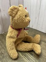 EXTREMELY RARE Handmade Ty Beanie Baby 'Curly' Retired Brown Nose Bear w/ Errors