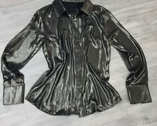 Ladies Long Sleeve Holographic Blouse.size 8-10