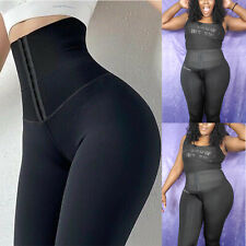 US Women High Waist Leggings Tummy Control Slim Fitness Sports Gym Corset Pants