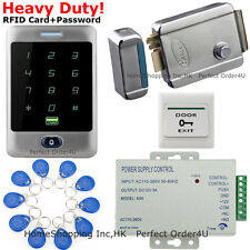 Waterproof RFID Card and Password Door Access Control System+Electric Rim Lock