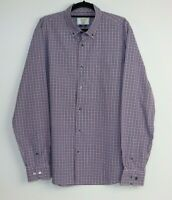 Gazman Long Sleeve Men's Checked Shirts Tailored Button-Down Size L