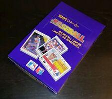 1991 O-Pee-Chee Premier Baseball Wax Box 36 Packs TAKEN FROM FRESH OPENED CASE