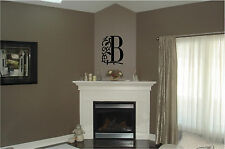 Personalized Monogram Initial & Vine 12x16 Wall Decal Sticker Wall Art