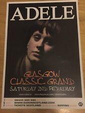 Adele - gig poster, Glasgow ,Scotland, Feb 2008