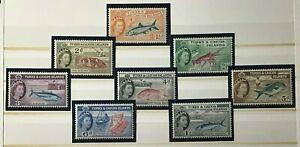 TURKS & CAOCOS ISLANDS Sc#122-128//130 Mint NH OG (4 shows) VF/XF (19-8)