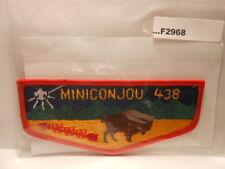 MINICONJOU LODGE 438 ORANGE BORDER W/FDL F2968