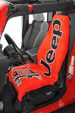 1 - Jeep Towel2Go Seat Cover -Red With Jeep Logo- Fits All Jeep Models