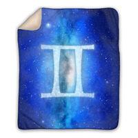 Gemini - Zodiac Sign Horoscope - Large Sherpa Blanket - Best Gift for Twins