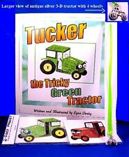 Adventure of Tucker Tricky Green Tractor - Picture book   magnet + bk mark