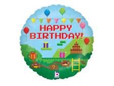 "18"" PIXEL HAPPY BIRTHDAY (MINECRAFT STYLE) HELIUM FOIL BALLOON oak 36556P"