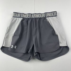 Under Armour Women's Gray Running Athletic Gym Shorts Active Loose Fit Size XS
