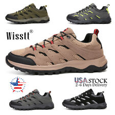 Men's Trekking Trail Shoes Mountaineering Outdoor Hiking Boots Suede Sneakers