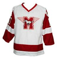 Any Name Number Size Youngblood Hamilton Mustangs Custom Hockey Jersey White