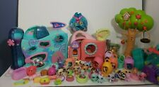 Huge Lot Littlest pet shop  Over 40 pieces including two houses and tree house