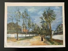 """Vintage """"Street in the Suburbs"""" Print by Maurice Utrillo"""