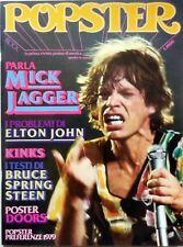 RIVISTA MAGAZINE ROCK POPSTER N.21 1979 MICK JAGGER ELTON JOHN KINKS SPRING