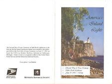 #2969-2973 Split Rock Lighthouse 2nd Day Program w/5 Stamps & auto