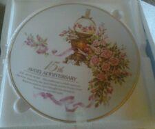 Avon 15th Anniversary Plate The Avon Rose Collectors Plate