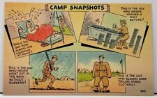 Military Humor CAMP SNAPSHOTS This is the Guy... Linen Postcard H9