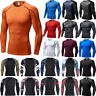 Men T Shirt Compression Long Sleeve Under Base Layer Thermal Sports Gym Tops
