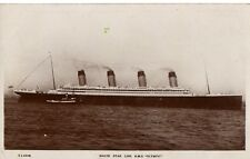 """R.M.S.Olympic,White Star Line,,45,000 Tons"" Kingsway,Real Photograph, Postcard"