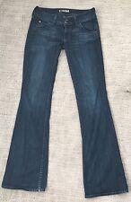 "Hudson 27 Jeans Women Straight Cut Rise 8"" Inseam 33"" Dark Wash Great!!!"