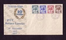 INDONESIEN 147-50 auf FDC - 10 Jahre indonesische Post 1955