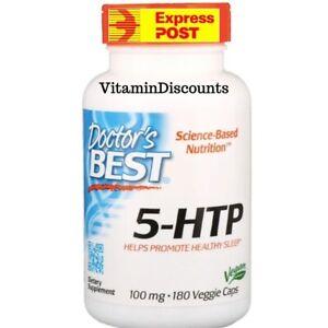 5 HTP 100 mg Doctors Best 180 Veggie Caps Mood & Sleep BEST BRAND VALUE 180 CAPS