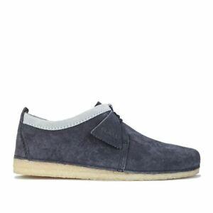 Men's Clarks Originals Ashton Lace up Cushioned Suede Upper Shoes in Blue