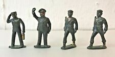 """GROUP OF 4 BARCLAY LEAD TOYS: SOLDIERS, POLICEMAN, BELLHOP ALL 3"""" HIGH 1930-40s"""