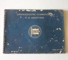 Libretto LANCIA Organizzazione commerciale e di assistenza ORIGINALE D'EPOCA