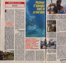 Coupure de presse Clipping 1989 Les Pêcheurs d'Eponges  (1 page1/2)