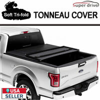 "2009-2014 Ford F-150 Lock 8ft (96"") Long Bed Truck Soft Tri-Fold TONNEAU COVER C"