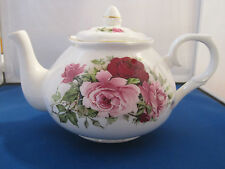 SUMMERTIME PINK FINE BONE CHINA  MADE ENGLAND TEAPOT 6 CUP40oz Adderley Ceramics