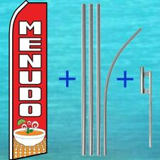 Menudo Flutter Flag + Pole Mount Kit Advertising Banner Sign Feather Swooper
