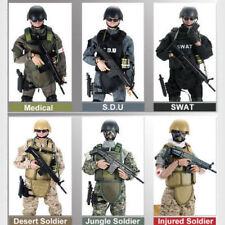 1/6 Soldier Action Figures Military Doll w/Army SWAT Model Toy Uniform Model Toy