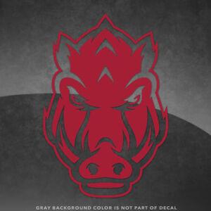 "Arkansas Razorbacks Hogs Vinyl Decal Sticker - 4"" and Up - More Colors"