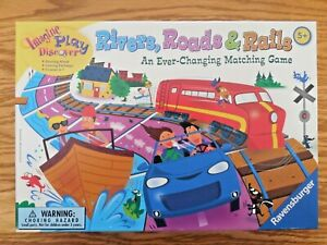 """MINT!  Ravensburger """"Rivers, Roads, & Rails"""" Tile Matching Game for Ages 5+"""